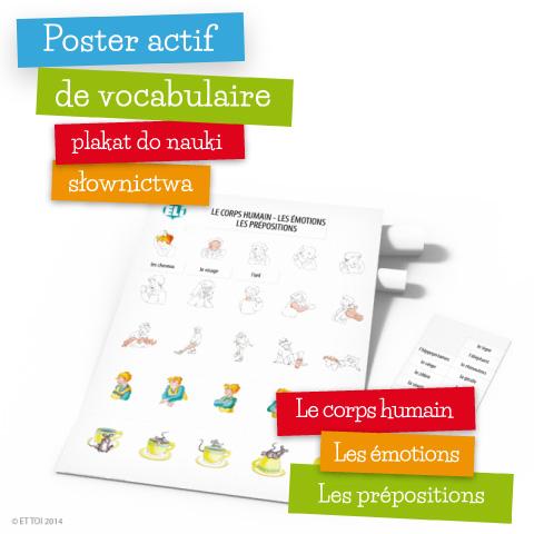 poster actif de vocabulaire le corps humain les. Black Bedroom Furniture Sets. Home Design Ideas